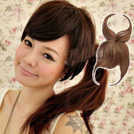 【PS Mall】遮蓋頭頂斜瀏海帶頂瀏海 斜長劉海造型假髮片 (P018)
