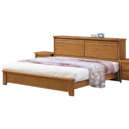 【顛覆設計】絲莉愛6尺雙人加大柚木實木床架(不含床墊)