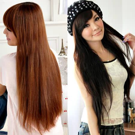 【PS Mall】一片式半頂五扣 氣質長直髮片假髮 (P031)