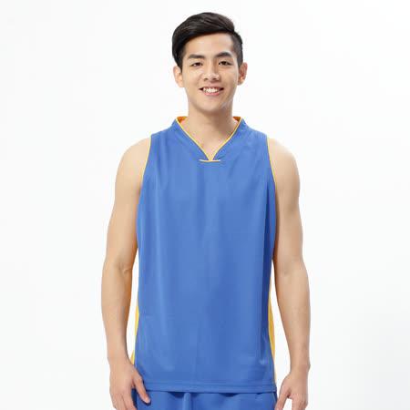FIVE UP(男)-吸排V領籃球背心-北卡藍