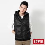 EDWIN 網路限定 菱格紋羽絨背心-男-黑色