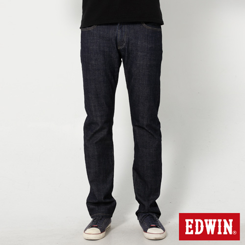 EDWIN EDGE雙層假袋蓋直筒牛仔褲-男-原藍色