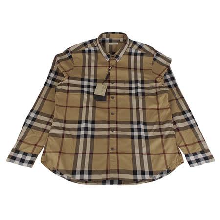 BURBERRY 經典格紋系列長袖襯衫(男/駝底格紋)