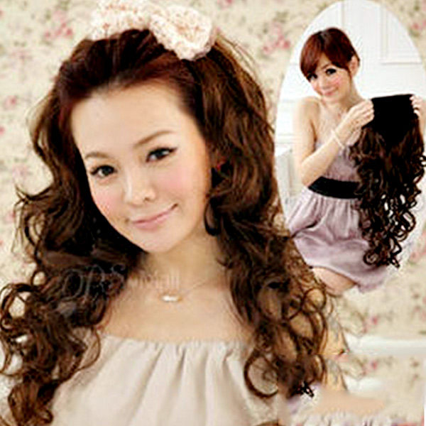 【PS Mall】DIY半頂式半罩式華麗長捲髮假髮 (P039)