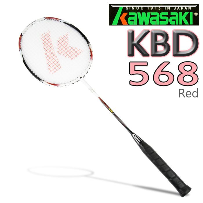 Kawasaki KBD568 POWER TOUR 全碳穿線羽球拍-紅