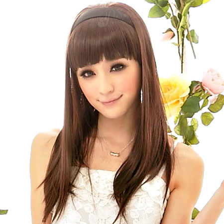 【PS Mall】DIY半頂式髮箍絕對著迷柔順氣質長直髮 (P042)