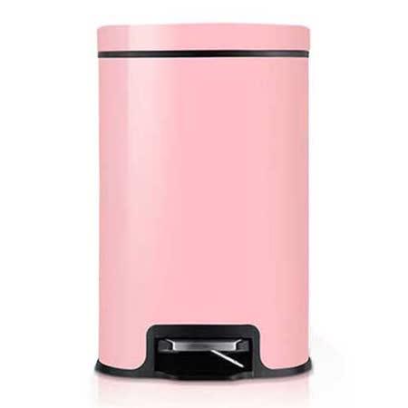 PUSH! 居家生活用品 colourful液壓緩降可固定垃圾袋垃圾桶 置物桶 12升(L)I17-2粉色