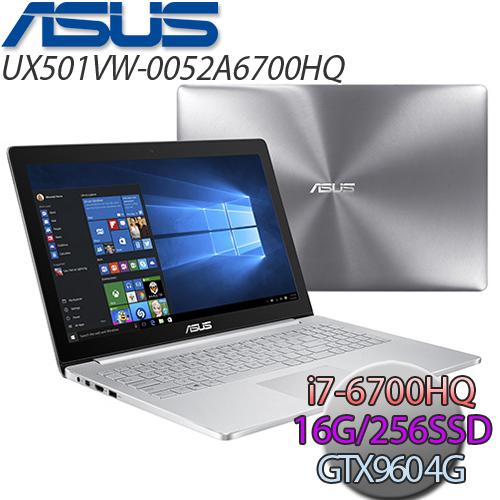 ASUS UX501VW-0052A6700HQ 15.6吋 i7-6700HQ 4K畫質 GTX960 4G獨顯筆電(256G SSD)