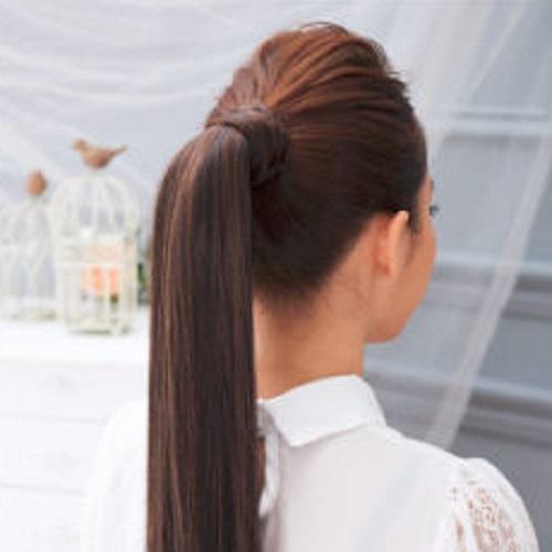 【PS Mall】馬尾不露髮圈綁式髮圈甜心直馬尾假髮 (P051)