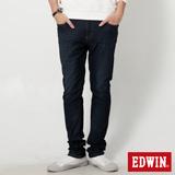 EDWIN 大尺碼 迦績褲JERSEYS漸層袋花直筒牛仔褲-男-原藍磨