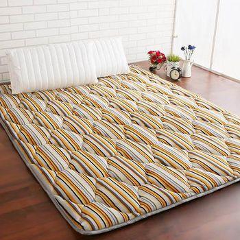 契斯特 新質感八公分超厚實京都日式床墊 -雙人(質感條紋)