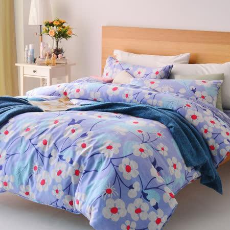 美夢元素 悠悠情懷 精梳純棉雙人特大四件式 全鋪棉兩用被床包組