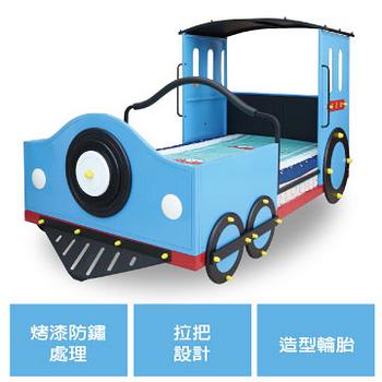 【Kids castle兒童城堡】湯姆士火車單人床架(含床墊)