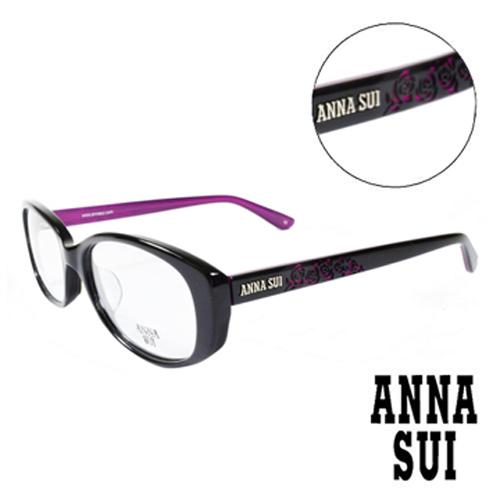 ANNA SUI 安娜蘇 薔薇雕刻 平光眼鏡^(黑色^)AS577~001