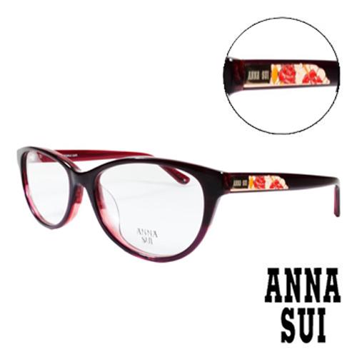 ANNA SUI 綻放薔薇浮雕 眼鏡^(紅色^)AS618~209