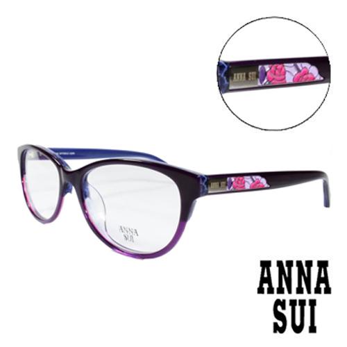 ANNA SUI 綻放薔薇浮雕 眼鏡^(紫色^)AS618~706