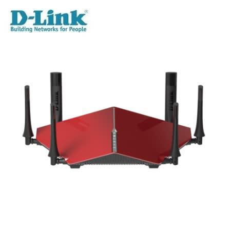 D-Link 友訊 DIR-890LR AC3200 雙核三頻Gigabit 無線路由器(紅)