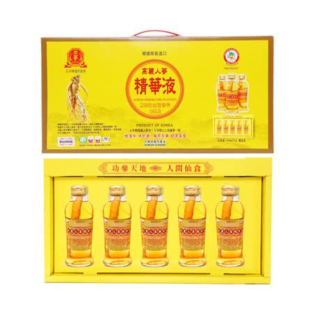 金蔘-韓國高麗人蔘精華液禮盒(120ml*5瓶 共2盒)贈蔘芝王2瓶