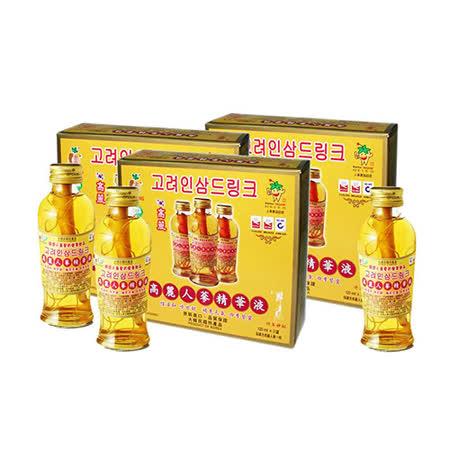 金蔘-韓國高麗人蔘精華液(120ml*3瓶 共3盒)贈蔘芝王1瓶