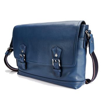 OFFERMANN-科隆系列-沉穩品味翻蓋斜背包-藍色