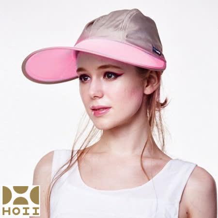 保證原廠【HOII】防曬【寬版棒球帽】UPF50+(紅光)【SUNSOUL后益先進光學】