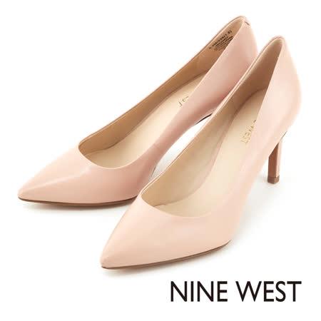 NINE WEST--玩美性感魅力 致命圓潤楦頭高跟鞋--嫩粉色