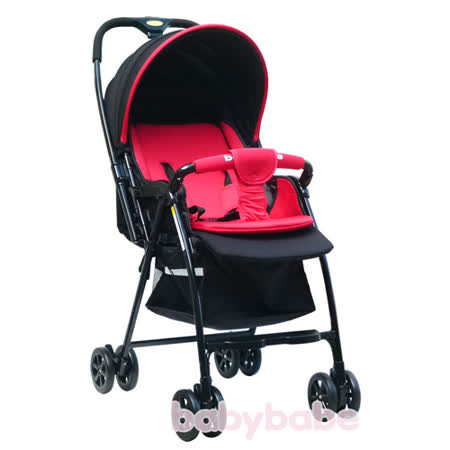 BabyBabe B968R加寬超輕量雙向秒縮車(紅色/黃色)