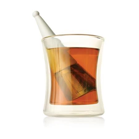 【Tea Forte】露思錐型茶葉濾器-白瓷 Luci Loose Tea Infuser Green White