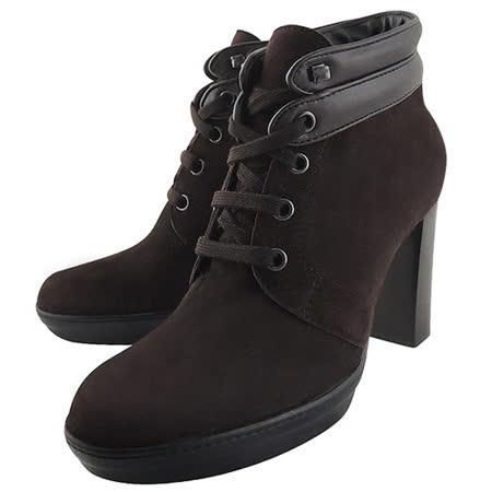 【好物分享】gohappy 購物網TODS 麂皮綁帶高跟短靴-咖啡色【36號】價錢gohappy com tw