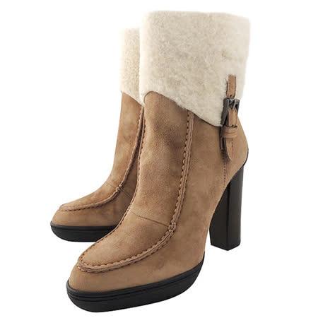 【好物推薦】gohappy線上購物TODS 麂皮高跟中筒靴-卡其色【36號】評價大 遠東 百貨 台中