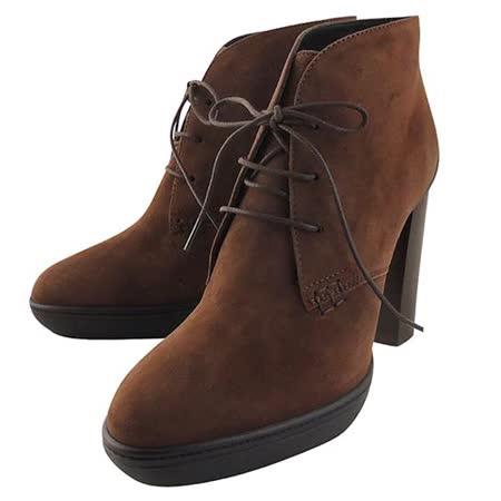 【好物分享】gohappy 線上快樂購TODS 麂皮綁帶高跟短靴-咖啡色【36~37.5號】好嗎新竹 大 遠 百