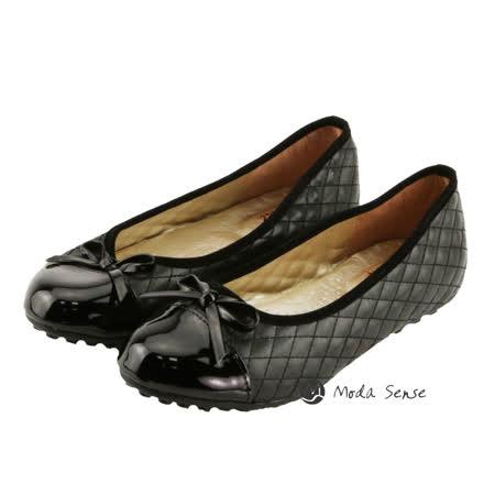 Moda Sense  簡單格子風娃娃鞋-黑 M6S8-A126