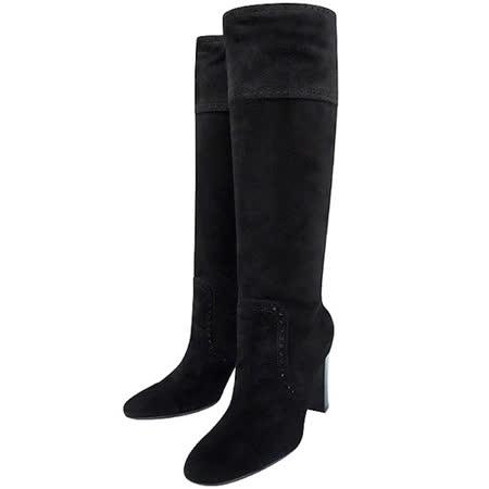 【網購】gohappyTODS 麂皮尖楦時尚高跟長靴-黑色【40號】效果好嗎遠 百 美食 街
