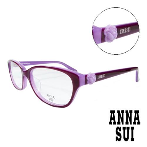 ANNA SUI 立體復古紫薔薇 眼鏡^(浪漫紫^)AS625~770