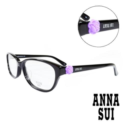 ANNA SUI 立體復古紫薔薇 眼鏡^(黑^)AS625~001