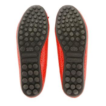 Moda Sense 蛇皮紋路娃娃鞋-紅 M6S8-A308