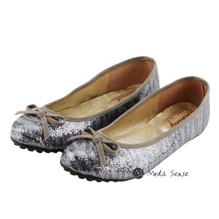 Moda Sense 閃閃亮金蔥系列娃娃鞋-金灰 M6S8-6091