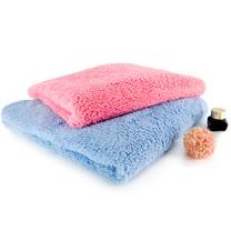 卡登思邁爾Cottonsmile-雪花絨經典浴巾兩件組(潤粉色、天空藍)
