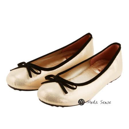 Moda Sense  寬楦頭 韓系典雅娃娃鞋-亮米 M6S8-2030