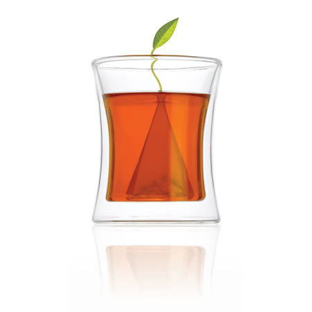 【Tea Forte】雙層隔熱玻璃杯 Morehouse Double Wall Glass Tea Cup