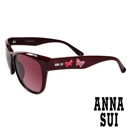Anna Sui 日本安娜蘇 時尚立體浮雕蝴蝶雙飛翼造型太陽眼鏡(棗紅)AS847270