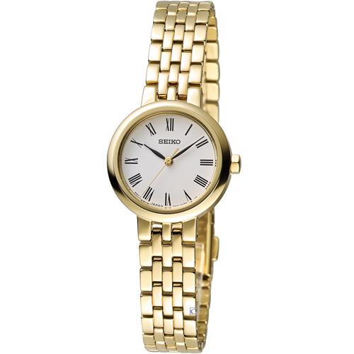 精工錶 SEIKO 小資完美時尚腕錶 7N01-0HW0K SRZ464P1 金色