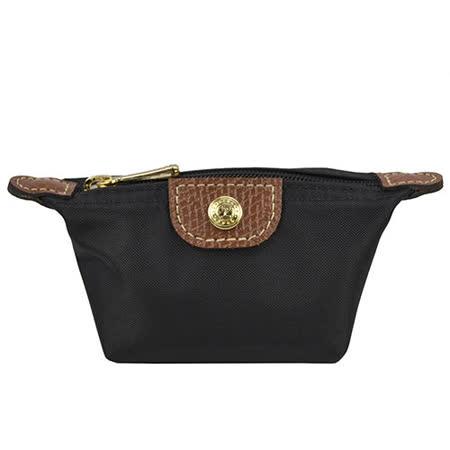 Longchamp 經典高彩度零錢包_黑色