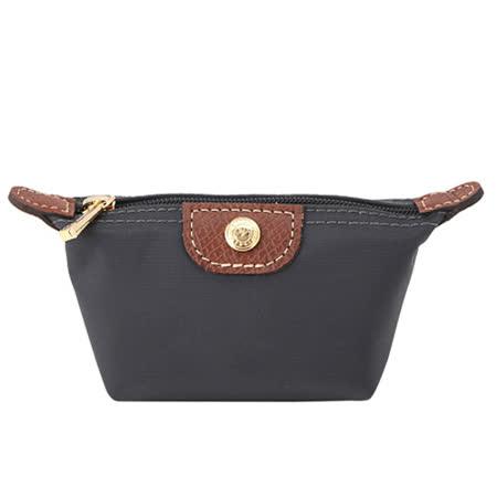 Longchamp 經典高彩度零錢包_槍黑色
