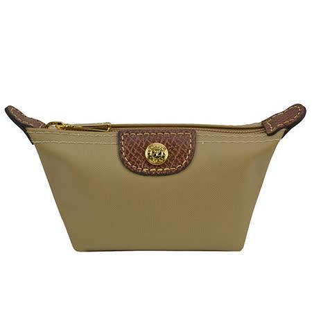 Longchamp 經典高彩度零錢包_卡其色