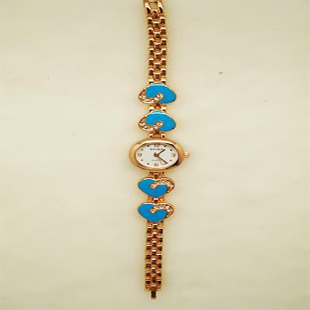 花戀飾品淑女鍊錶-藍色愛心款