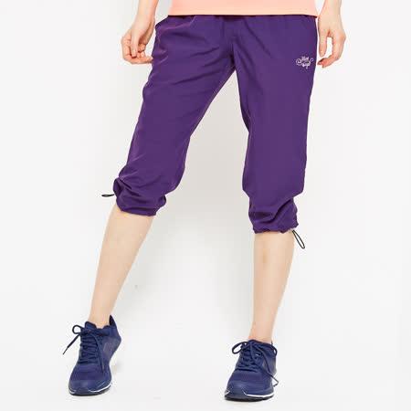 FIVE UP(女)-舒適縮口風衣七分褲-紫