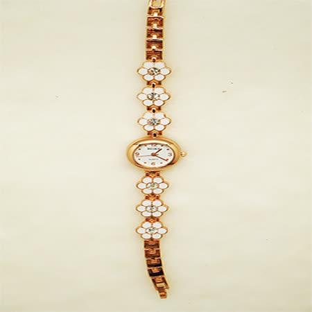 花戀飾品淑女鍊錶-小白花鑽錶