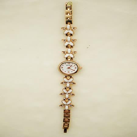 花戀飾品淑女鍊錶-劍鑽白花錶