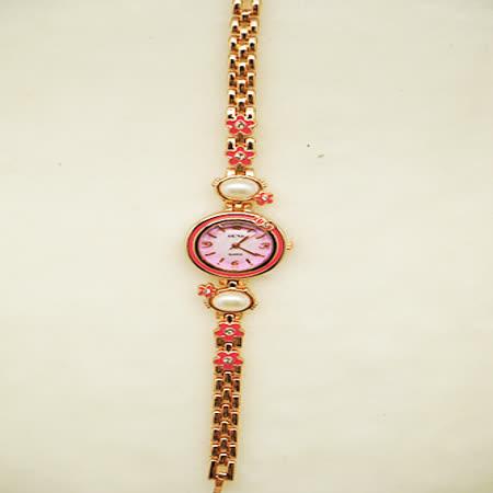 花戀飾品淑女鍊錶-小花珍珠錶